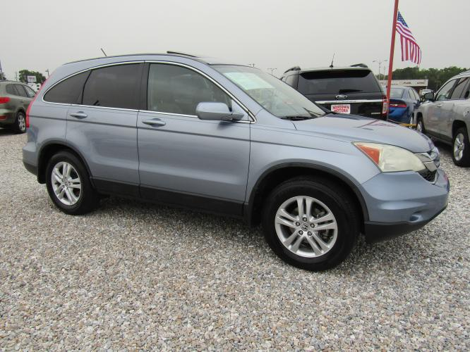 2010 Blue Honda CR-V EX-L 2WD 5-Speed AT (5J6RE3H74AL) with an 2.4L L4 DOHC 16V engine, Automatic transmission, located at 15016 S Hwy 231, Midland City, AL, 36350, (334) 983-3001, 31.306210, -85.495277 - Photo #0