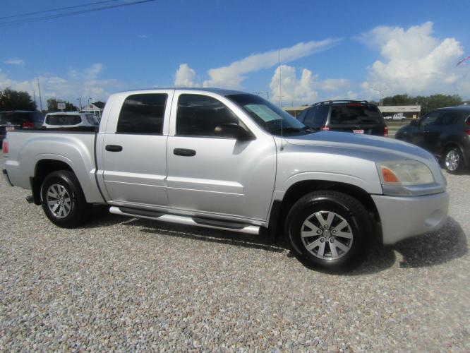 2007 SILVER /Gray Mitsubishi Raider LS Double Cab 2WD (1Z7HC28K07S) with an 3.7L V6 SOHC 12V engine, 4-Speed Automatic Overdrive transmission, located at 15016 S Hwy 231, Midland City, AL, 36350, (334) 983-3001, 31.306210, -85.495277 - Photo #0