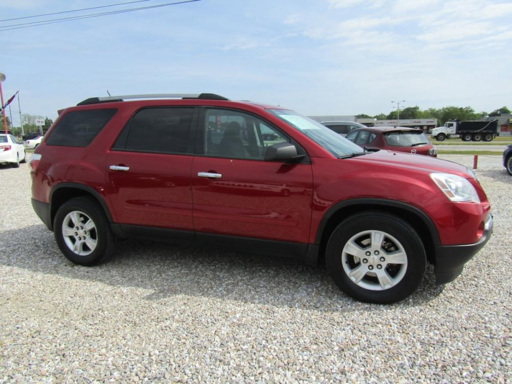 2012 Red /Gray GMC Acadia SLE-1 FWD (1GKKRNED5CJ) with an 3.6L V6 DOHC 24V engine, Automatic transmission, located at 15016 S Hwy 231, Midland City, AL, 36350, (334) 983-3001, 31.306210, -85.495277 - Photo #0